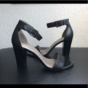 "Tahari ""May"" Black Block Heels"